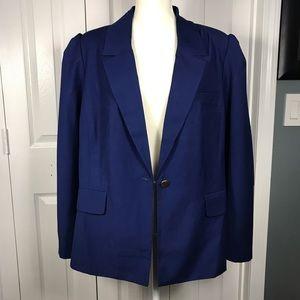 Eloquii Blue Blazer Puff Sleeve Sz 20 NWT